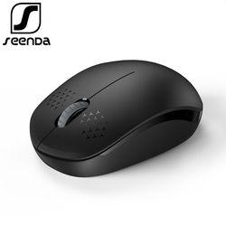 SeenDa 2.4 GHz USB Souris Sans Fil Portable Bureau Muet Souris pour Ordinateur Portable PC Portable Mini Silencieux Souris 1600 DPI Ordinateur souris