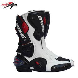 Pro Biker cuero botas de moto velocidad del motorista Pro Racing botas Motocross resistencia gota impermeable Riding Racing botas