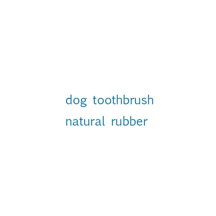 Brosse à dents chien caoutchouc naturel
