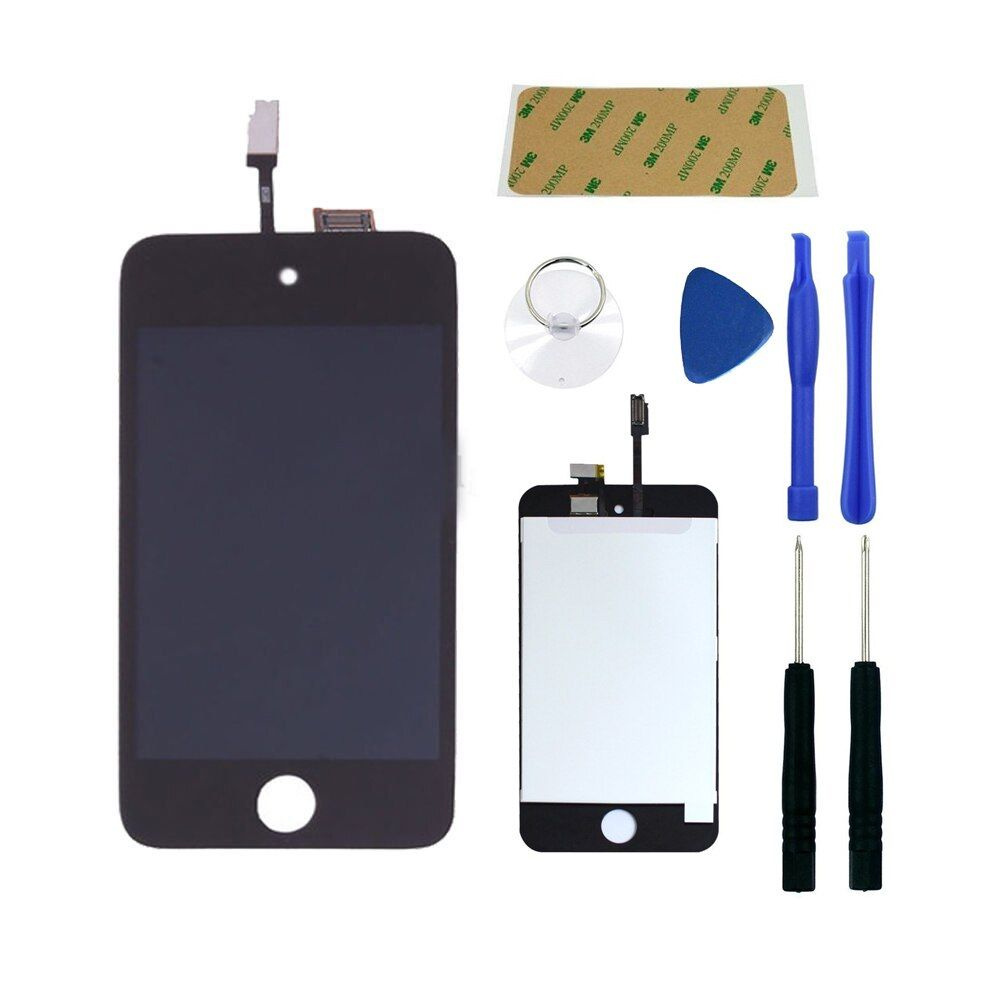 Full Screen Replacement for iPod Touch 4 4th LCD Screen The Whole Display Assembly With Free Tools Kit and frame adhesive