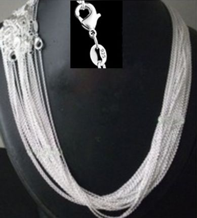 <font><b>promotion</b></font> ,wholesale Price 50pcs/lot 925 stamped Silver Plated 1mm Link Rolo Chains 16,18 ,20,22,24 inch women Jewelry Chain