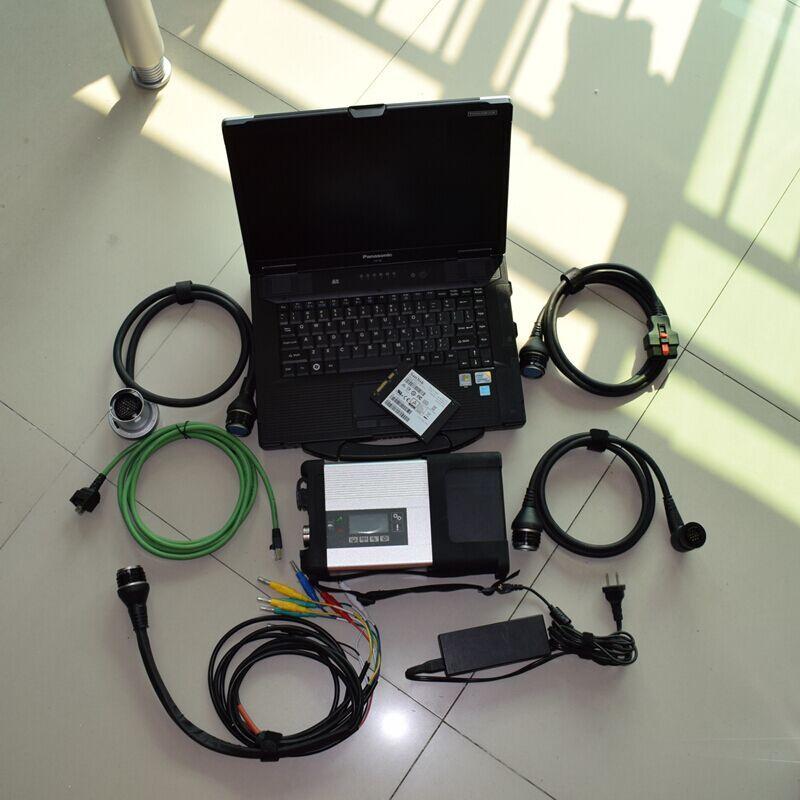 2019,05 MB SD Verbinden Kompakte 5 mit WIFI mit SSD MB Star C5 Multiplexer installiert in toughbook cf-52 cf52 laptop bereit zu verwenden