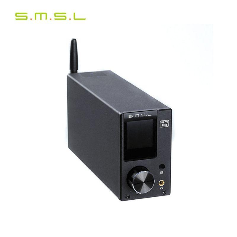 SMSL AD18 Multi-Fonction Bluetooth 4.2 HIFI Numérique Amplificateur de Puissance Audio 80 W * 2 Optique/Coaxial USB DAC Décodeur réglage de L'ÉGALISEUR