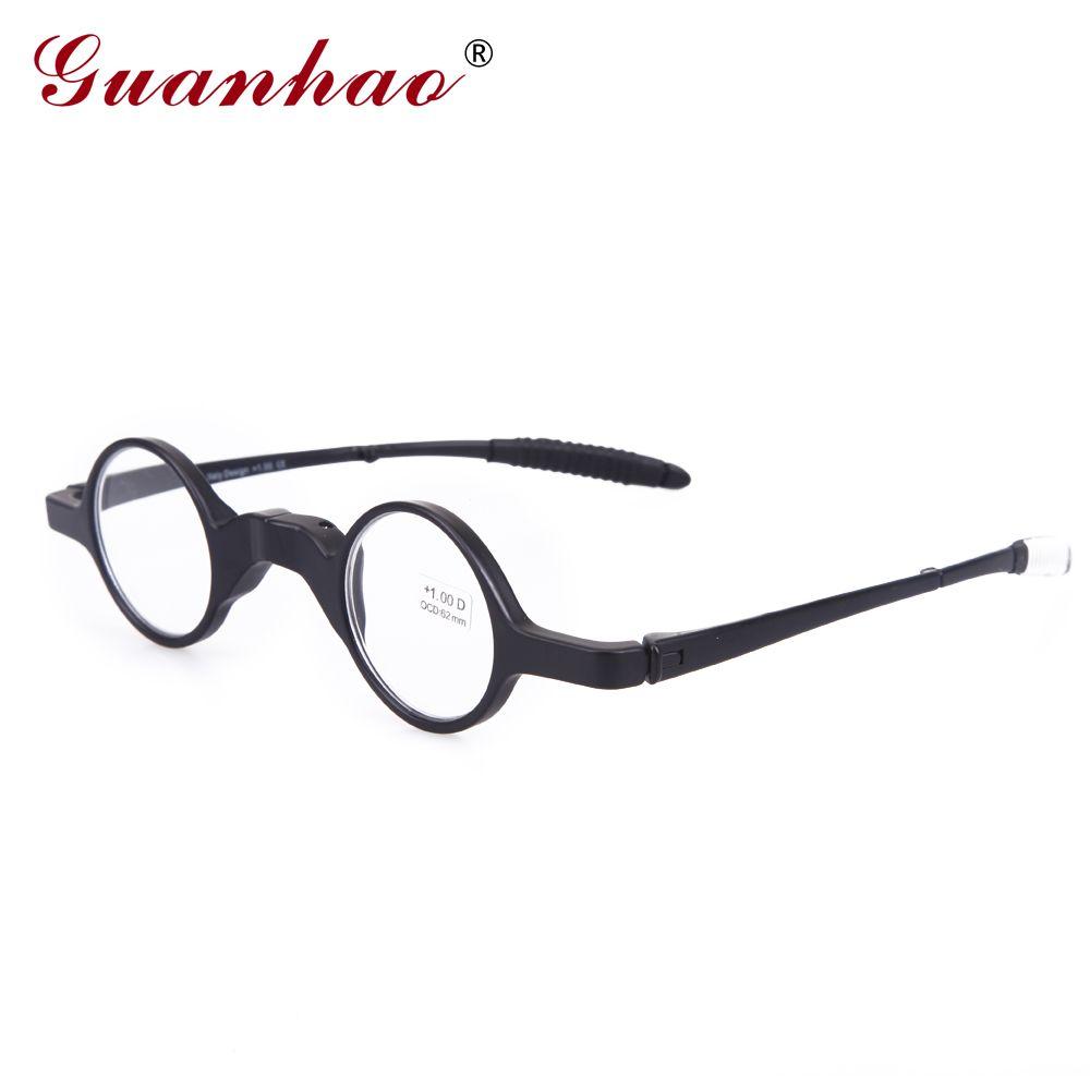 Guanhao Vintage lunettes de lecture pliable hommes femmes TR90 cadre mince ultraléger Anti Fatigue lunettes de lecture 1.0 1.5 2.0 2.5
