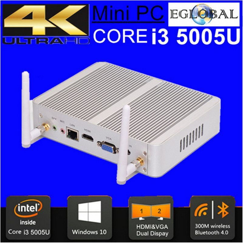 Eglobal Cheapest i5 i3 Broadwell Mini PC Windows 10 Barebone Computer Intel Core i3 5005U 2GHz HD 5500 Graphics HTPC wifi HDMI
