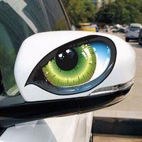 2 шт. D 601 3D стерео светоотражающие Cat Средства ухода для век автомобиля Стикеры Авто сторона Fender глаз Наклейки клей творческих Зеркало заднег...