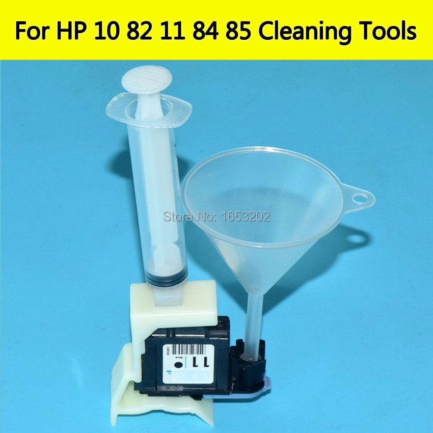 Dispositif de Nettoyage Unités kit Pour HP 11 10 82 84 85 Outils De Nettoyage Pour HP 100/110/111/500/510/800/813/850/510 Tête D'impression Buse