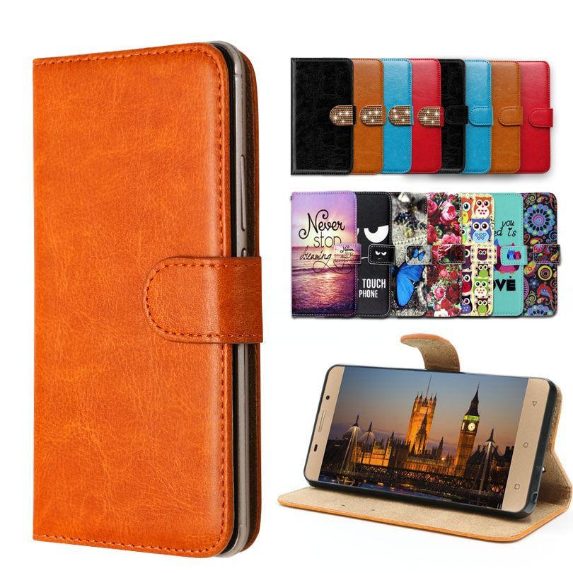 Vintage Flip Case with kickstand Luxury PU Leather case for Doopro P5 (PRO),lovely cool Cartoon Wallet Fundas Cover