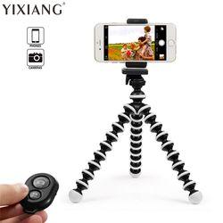 YIXIANG Mini Flexible Octopus Tripod for iPhone Samsung Xiaomi Huawei Mobile Phone Smartphone Tripod Camera Accessory