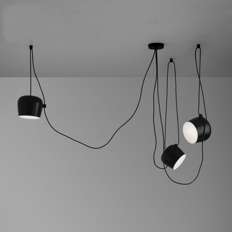 High Replica With Acrylic Cover AIM 3 Lights Pendant Lamps For Living Room DIY Industrial led Light Aluminum Abajur lamparas