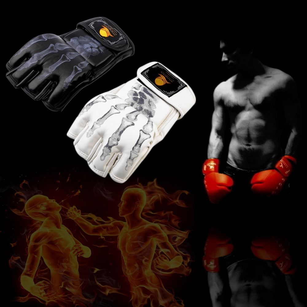 MMA Fight Boxing half finger Gloves MMA Sparring Gloves Fight Sandbags Professional Wrestling Fighting Fist Protector Training