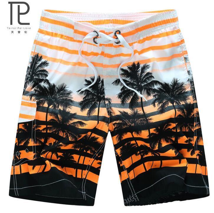 Sastre Pal Amor Ropa de Secado rápido Hombres Shorts Marca Summer Casual Cocoteros Trajes de Baño Cortocircuitos de la Playa Pantalones Cortos de Los Hombres # B21