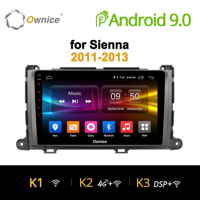 Ownice K1 K2 K3 9 inch steuergerät auto PC Octa Core Android 9.0 DVD GPS Navigation für TOYOTA Sienna 2011 2012 2013 4G LTE Auto Spielen