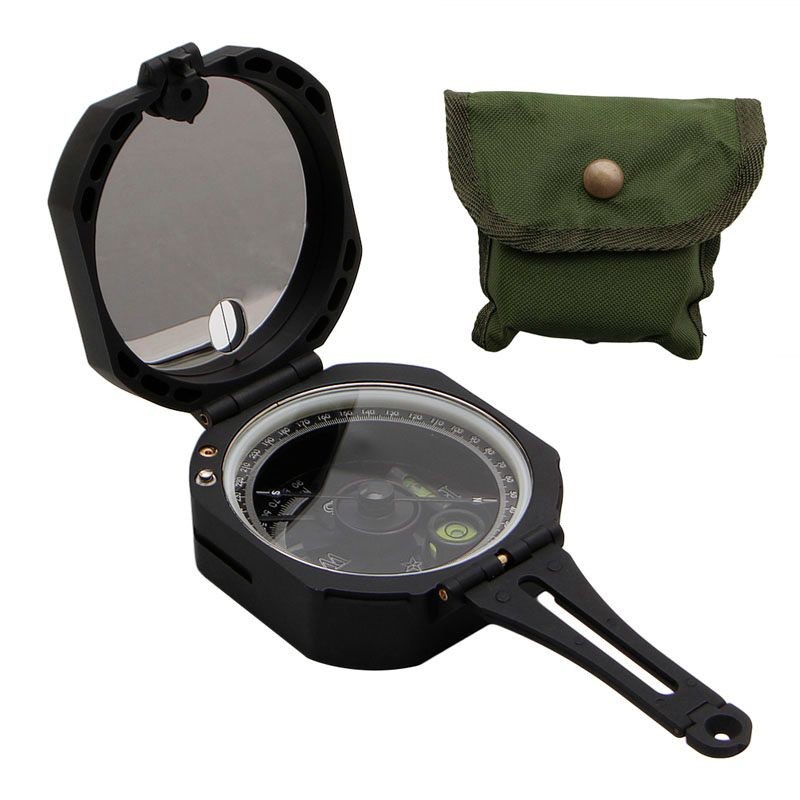 High Precision Magnetic Pocket Transit Geological Compass /w 0-360 Degree Scale-P101