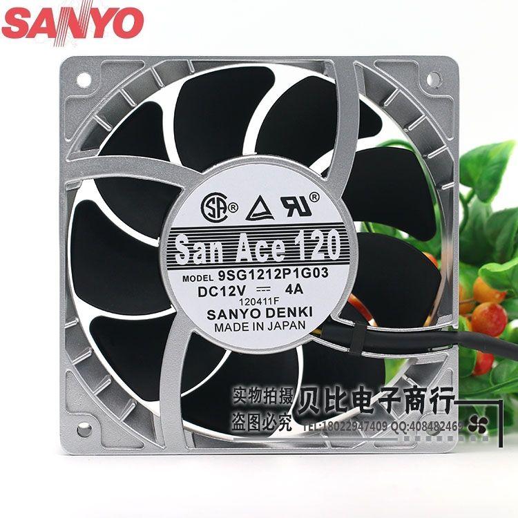 Sanyo 9SG1212P1G06 9SG1212P1G03 12 см высокие температуры вентилятор Скорость насилие вентилятор 12038 12 В 4A мощный 120*120*38 мм