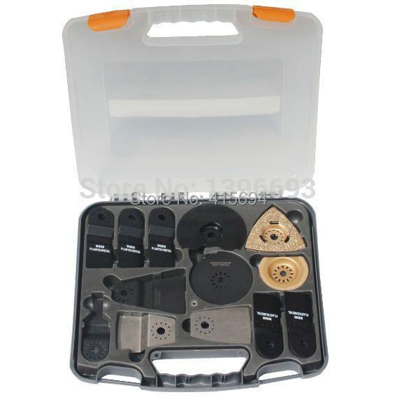13 pièces kit multifonction lames oscillantes, Accessoires pour appareil-oscillant outil multi lame de scie, boîtier En Plastique, Livraison Gratuite!