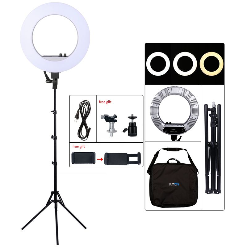 18inch LED Photography Light 50W 480PCS LED Ring Light Bi-color 3200K-5600K Photo Studio Video Makeup Lamp With Tripod Stand