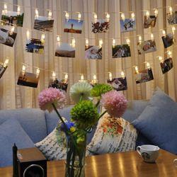 1 set/bolsa boda decoración estrellada foto luces libro decoración ventana Navidad centerpieces batería