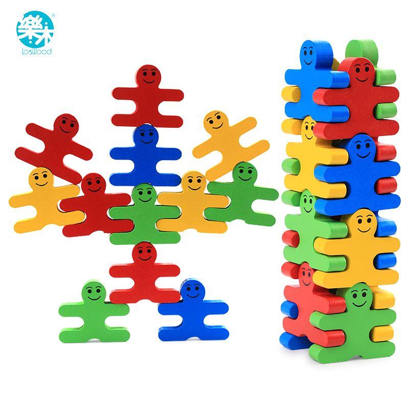 Bébé jouets en bois blocs équilibre jeu bloc de construction début éducatif briques jouets table jeu jouets pour enfants jouer avec un ami