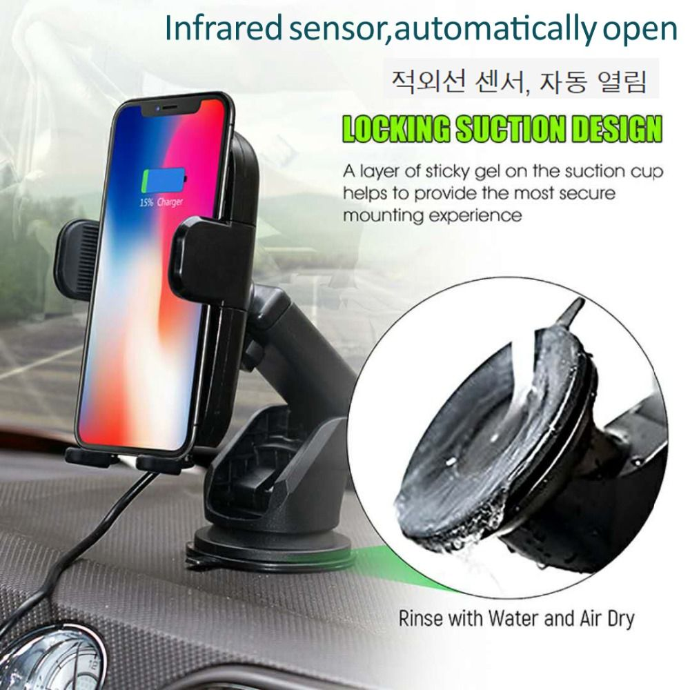 Fast Wireless Car Charger with automatic sensor Car Mount Air Vent Phone Holder Cradle for iPhone 8/ 8 Plus/ X Samsung S9 S8 S7