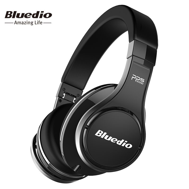 Bluedio U(UFO) Bluetooth headphones original  Patented 8 Drivers 3D Sound headphone HiFi Over-Ear wireless headset