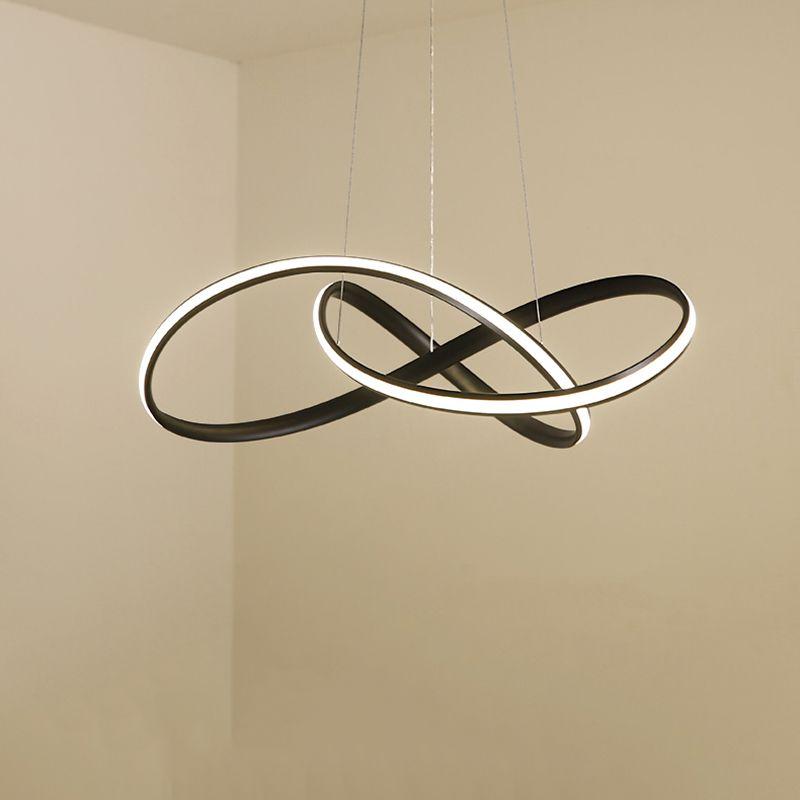 Modern led Pendant Light for Kitchen Dining Room Living Room Suspension luminaire Hanging White Black Bedroom Pendant Lamp avize