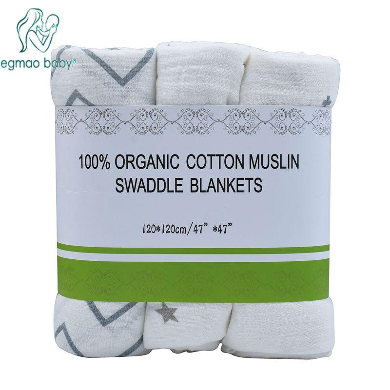 3 шт./лот 120*120 муслин Детские Пеленание Одеяло Бамбук обертывание для новорожденных 100% хлопок пеленание полотенце случайные доставки