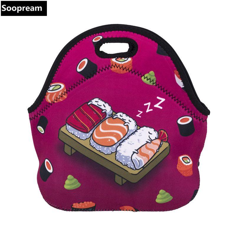 Бесплатная доставка японский суши Bolsa Termica lancheira неопрен хлеб обед мешок кофе тепловой мешок обед коробки женщины закуски Tote