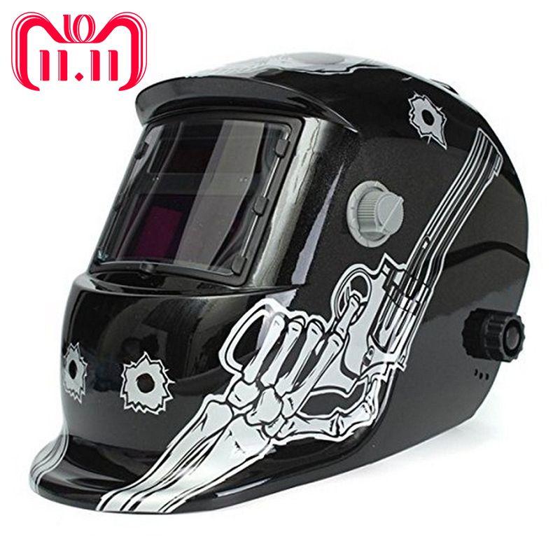 Solar Auto Darkening Welding Mask MIG MMA Big Screen Electric Welding Helmet Welder Cap Welding Lens for Welding Machine