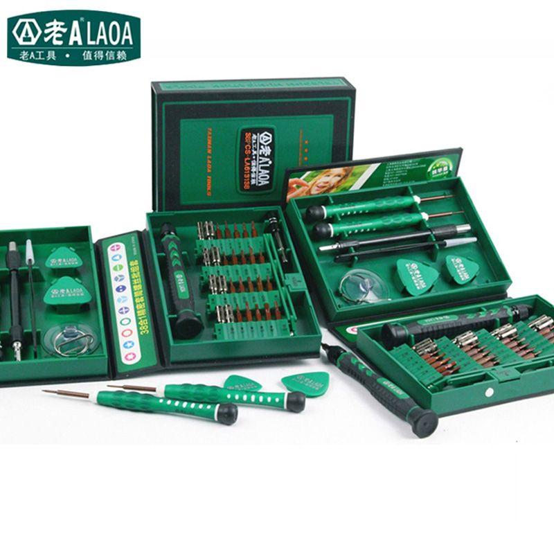 LAOA Vente Tournevis Set 38 in1 Réparation Outils Kit Précision S2 Alliage Acier ferramentas outil pour Téléphone portable iPhone 4S, 5S, 6 s, PSP