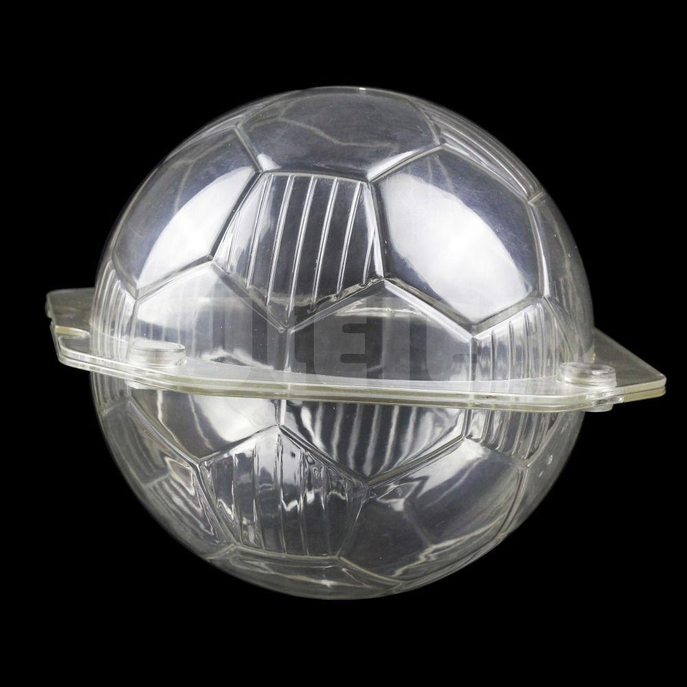 Moule en plastique de chocolat de cuisson de forme du Football 3D, outils transparents de décoration de gâteau de pâtisserie de moule de sucrerie de chocolat de polycarbonate