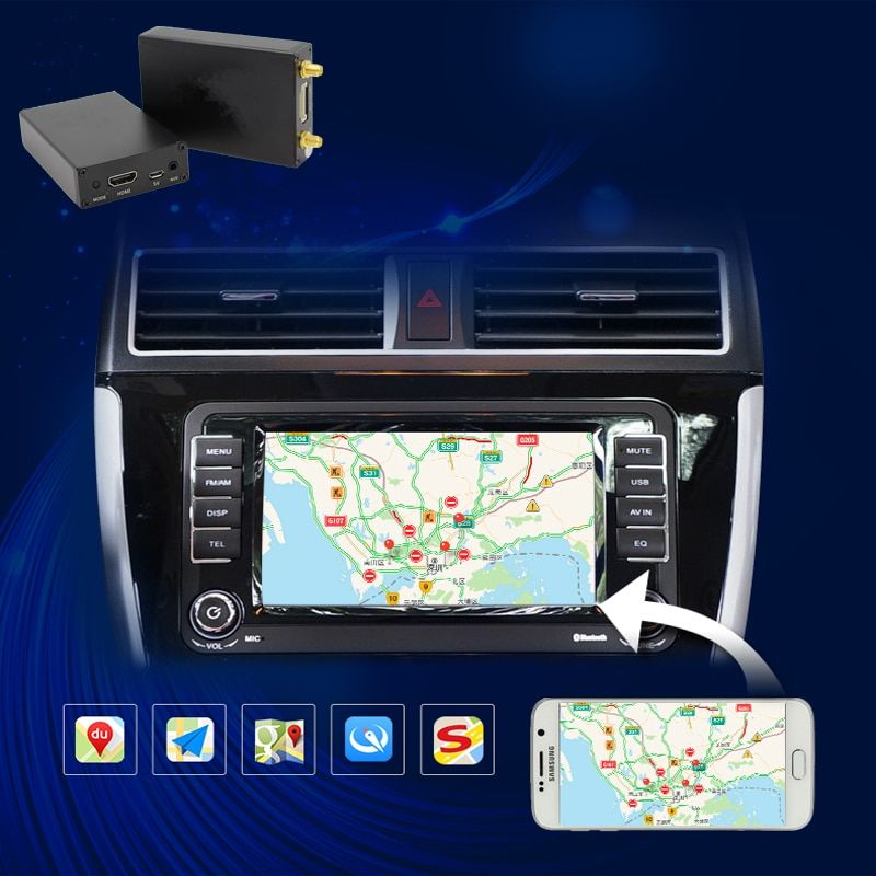 Carlinke 5.8G mirroring link box for VW / POLO / Corolla / carphone screen share airplay Car Airplay for Android iSO