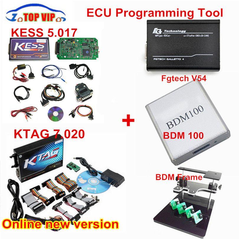 Vollen Satz!! Neueste HW V4.036 KESS V2 Master ECU Chip Tuning Tool + KTAG V2.13 + Galletto V54 + BDM rahmen + BDM 100 Chip Tuning Kit