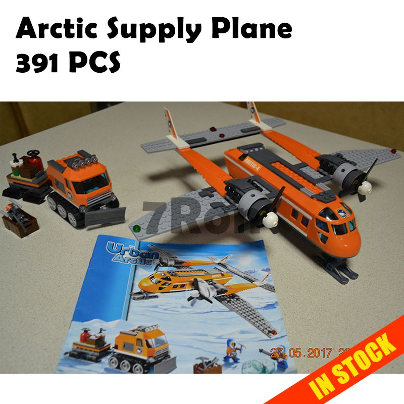 10441 Arctic Supply Plane 391 pcs Model building kits compatible with lego blocks city 3D Educational toys hobbies for children