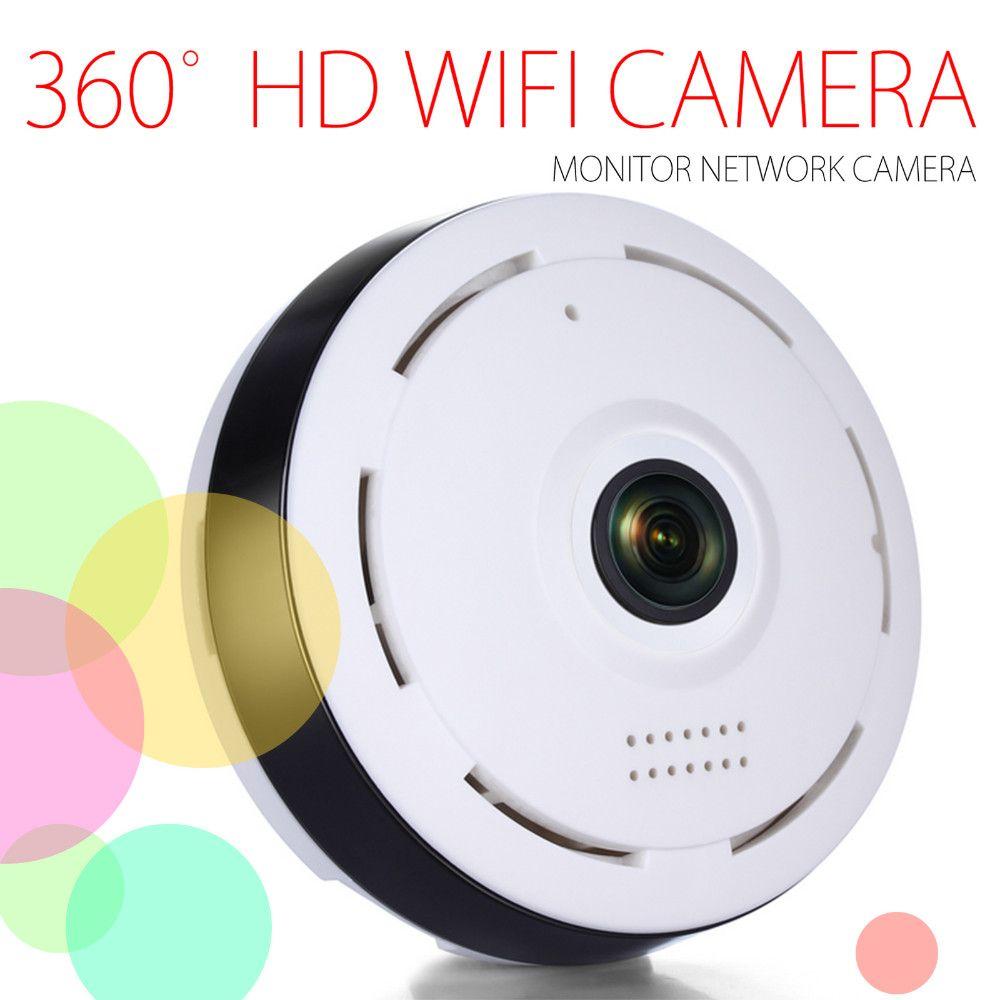 HD 360 degrés panoramique grand Angle MINI caméra de vidéosurveillance intelligente IPC sans fil Fisheye IP caméra P2P 960P HD sécurité à domicile Wifi caméra