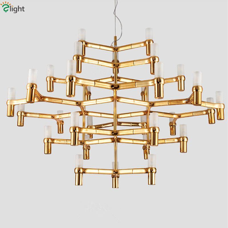30 licht Nemo Crown Großen Led Chrome Anhänger Kronleuchter Nordic Minimalismus Gold Kerze Milchglas G9 Kronleuchter Beleuchtung