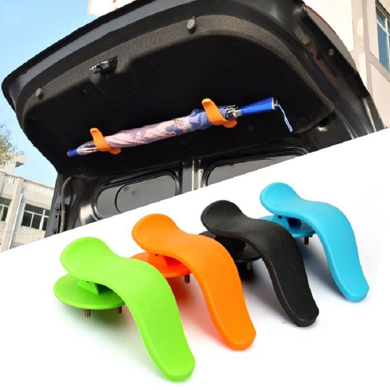 CHIZIYO 1Pair Universal Car Trunk Mounting Bracket Umbrella Holder Clip Hook Interior Fashion Multifunctional Fastener Accessory