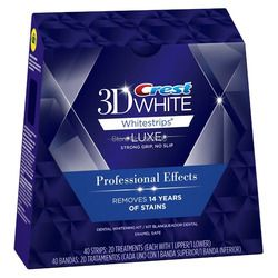40 Bandes 20 Pochettes/1 Boîte Crête 3D Blanc LUXE Professionnel Effets Whitestrips Crest Whitestrips