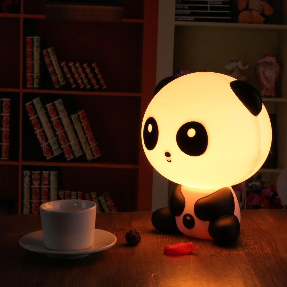 LEDERTEK Bastante Lindo Oso Panda Animal de la Historieta Luz de La Noche del Bebé Lámpara de Escritorio Lámpara de Noche Dormitorio de la Luz ambiente Para Dormir Mejor para regalos