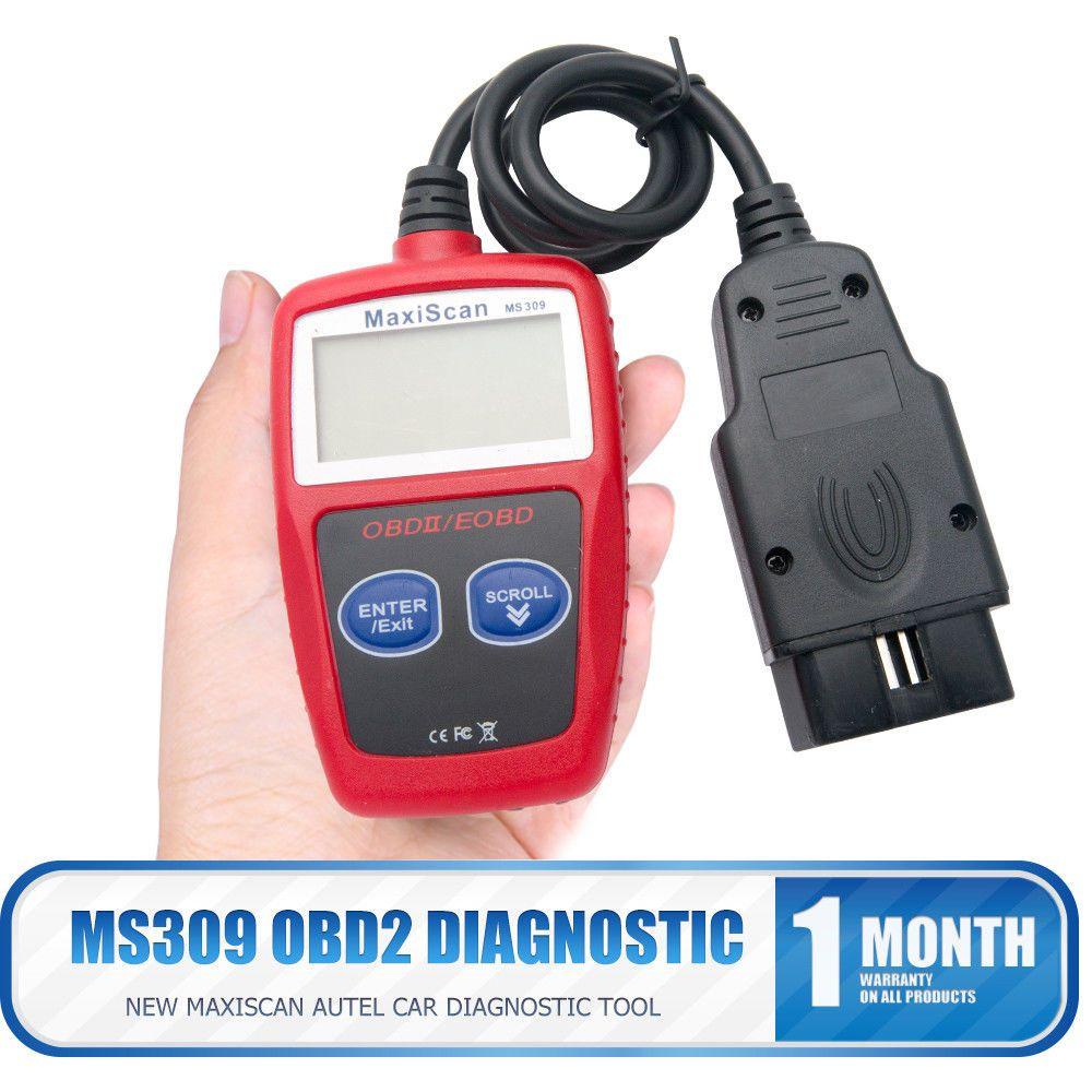 Car Diagnostic Tool OBD2 Automotive Scanner MS309 OBD 2 EOBD Better ELM327 Engine Fault Code Reader Scan Tools