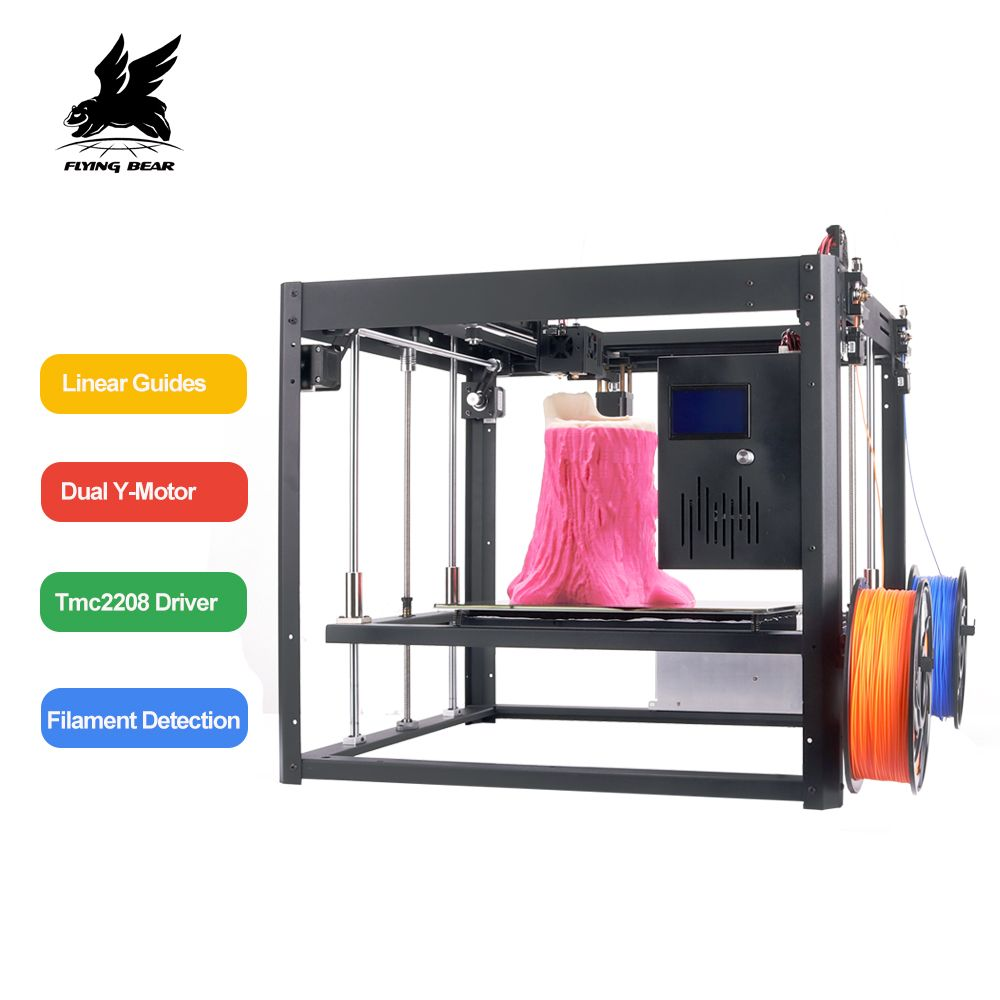 Flyingbear Tornado 2 large 3d Printer DIY Full metal Linear rail 3d printer High Quality Precision double extruder
