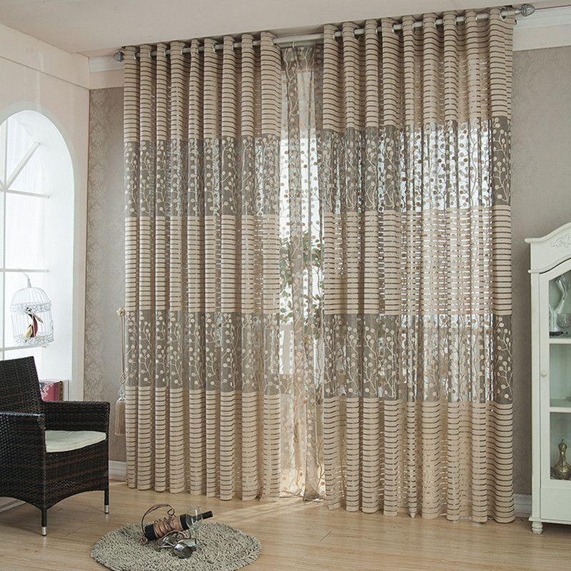 Style européen solide tulle transparent fenêtre rideaux pour salon la chambre cuisine moderne tulle rideaux tissu rideaux panneaux