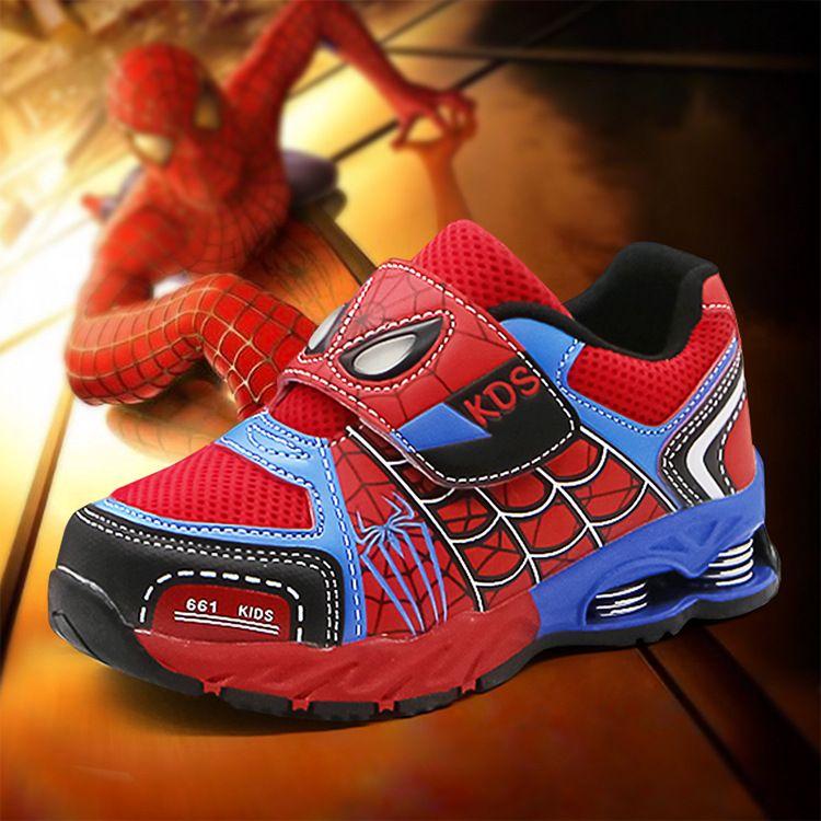 children Sports shoes,Spiderman boy shoes,Mesh soft sole Kids gym shoes,Children Spiderman sneaker,Anti-skid shock absorption