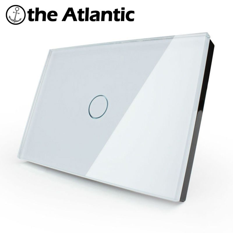 US/AU 1 Gang 1 Way,Wall Light Touch Screen Switch,Crystal Glass Switch Panel,Can not be remotely controlled