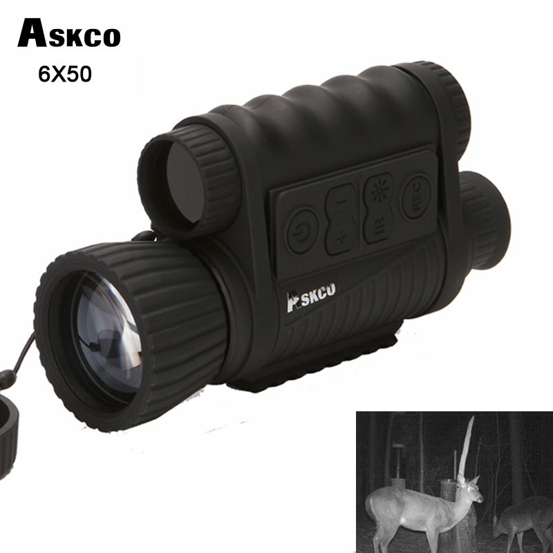 Jagd Digitale Infrarot 6X50 Nachtsicht Monokulare teleskop 5MP HD 350 m Palette Für Bild Video Schießen NVH650