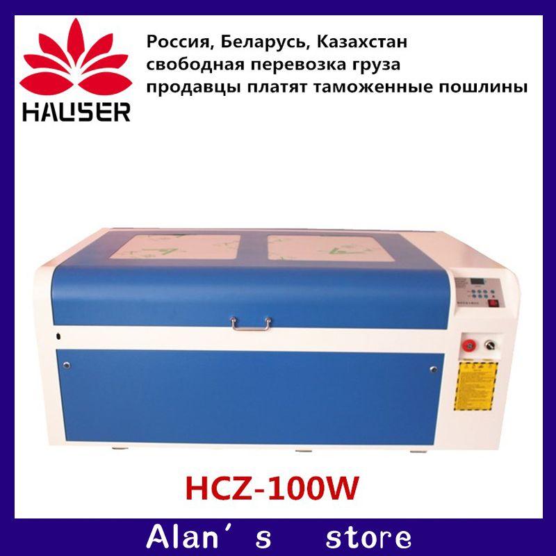 Russland Freies Verschiffen HCZ 100 W Laser Gravur Maschine 1060 Laser Schneiden Maschine CO2 CNC Schneiden Maschine Usb-schnittstelle