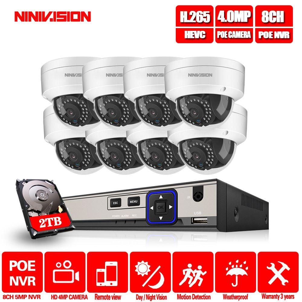 H.265 8CH 5MP 4MP POE NVR Recorder 4MP Video Überwachung system 48 V CCTV 5.0MP POE NVR Kit für 4MP POE IP Kamera HDMI Ausgang