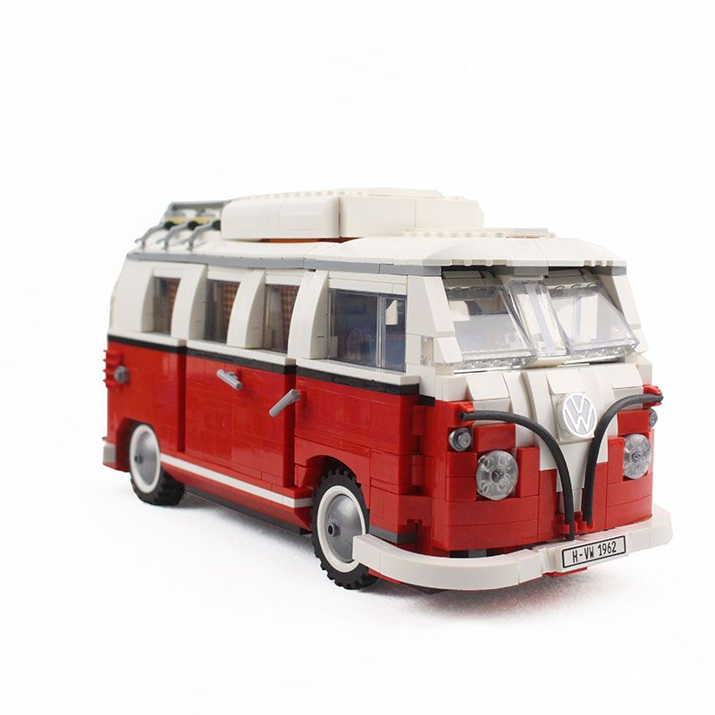 YILE 306 21001 the T1 Camper Van Model Building Blocks kits Compatible with lego 10220 Technic car Toys