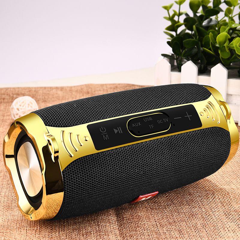LIGE 2019 Neue Bluetooth Outdoor Lautsprecher Tragbare Wireless Spalte Lautsprecher Metall Übergewicht Lautsprecher TF Karte FM Radio Aux Eingang