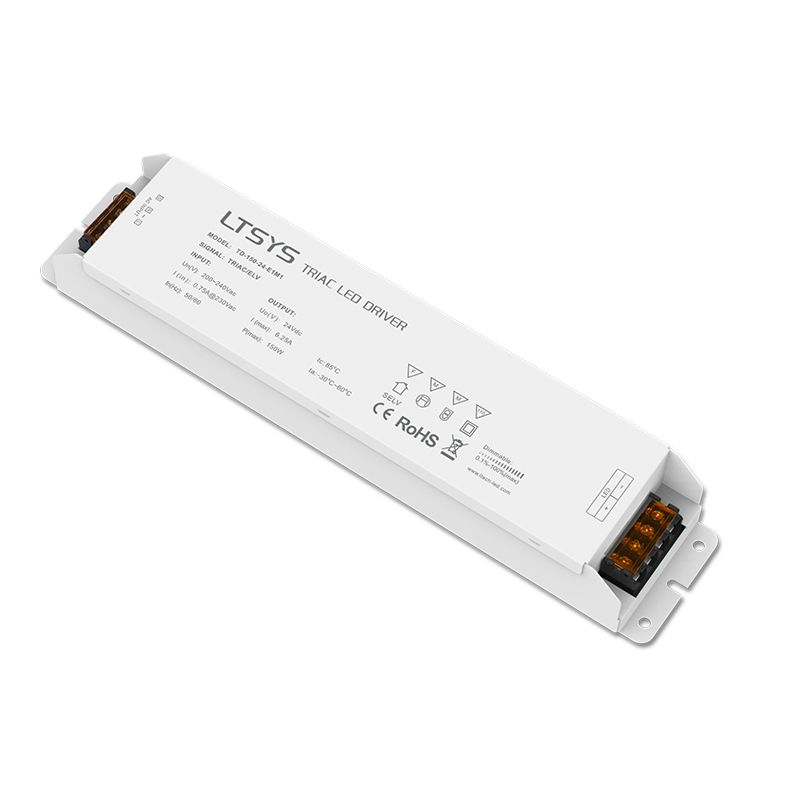 New LTECH Led Triac Dimming Driver TD-150-24-E1M1; 100-240V input,Output 150W 24VDC constant voltage Triac Dimmable LED Driver